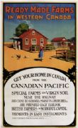 Vintage Travel Poster Ready made farms Western Canada